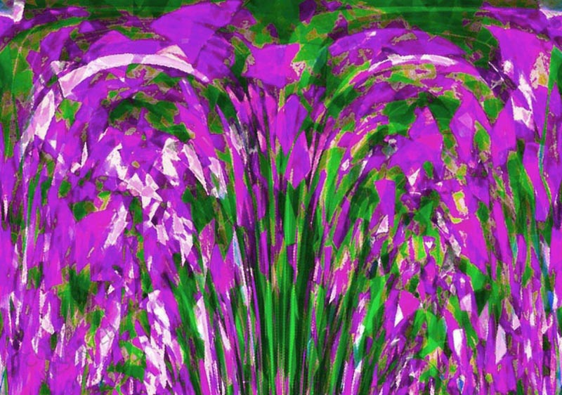 Lilac Summer (26C) by John Neville Cohen, Abstract Limited Edition Print, Maximum of 8,    Red, Magenta,