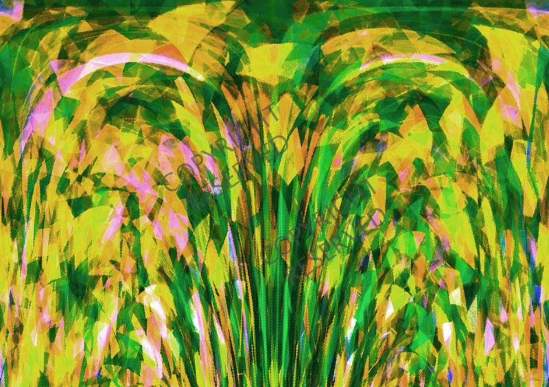 Yellow Summer (26A) by John Neville Cohen, Abstract Limited Edition Print, Maximum of 8,    Abstract, Yellow, Green, Pink